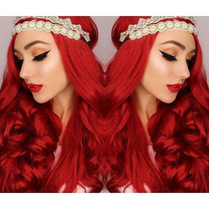 Long Curly Red 26